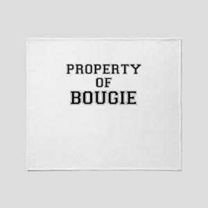 Property of BOUGIE Throw Blanket