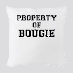 Property of BOUGIE Woven Throw Pillow