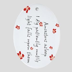 Genealogy Haiku Oval Ornament