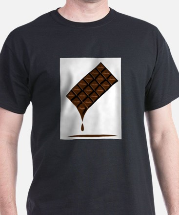 Dark Chocolate Bar Melting T-Shirt