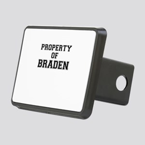 Property of BRADEN Rectangular Hitch Cover