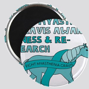 Unicorns Support Myasthenia Gravis Awarene Magnets