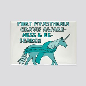 Unicorns Support Myasthenia Gravis Awarene Magnets