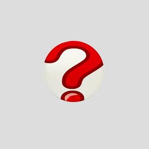 Red Question Mark Mini Button