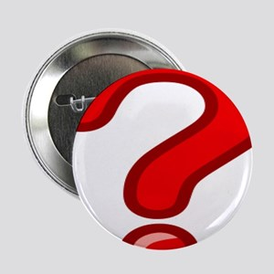 """Red Question Mark 2.25"""" Button (10 pack)"""