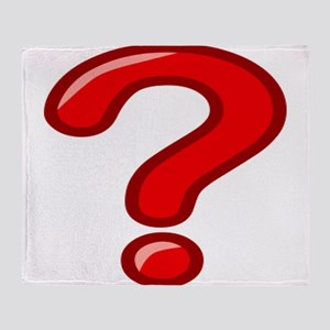 Red Question Mark Throw Blanket