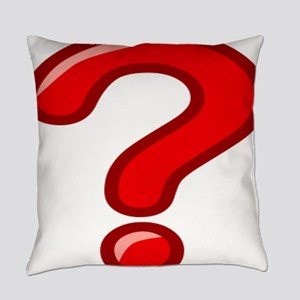 Red Question Mark Everyday Pillow