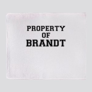 Property of BRANDT Throw Blanket