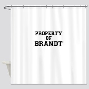 Property of BRANDT Shower Curtain