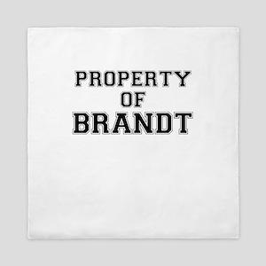 Property of BRANDT Queen Duvet