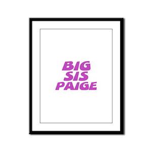 Big Sis Paige Framed Panel Print