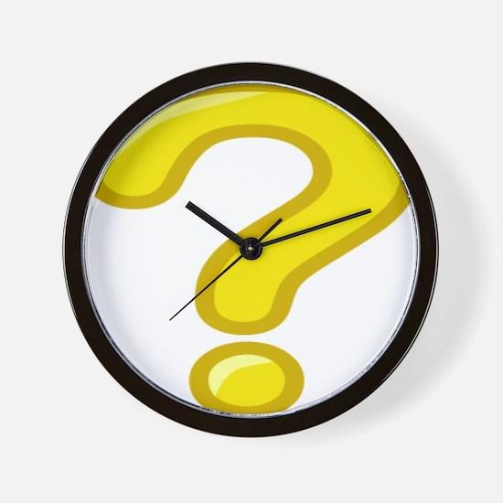 Yellow Question Mark Wall Clock