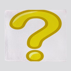 Yellow Question Mark Throw Blanket