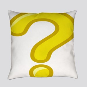 Yellow Question Mark Everyday Pillow