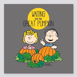 "Peanuts: The Great Pumpkin Square Car Magnet 3"" x"