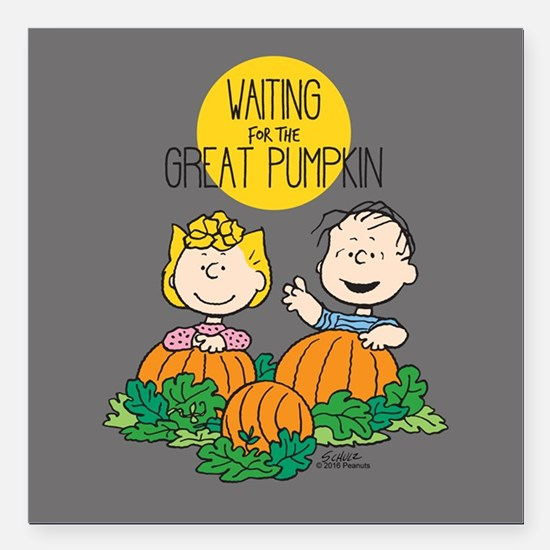 "Peanuts: The Great Pumpkin Square Car Magnet 3"" x"