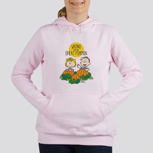 The Great Pumpkin Is Com Women's Hooded Sweatshirt