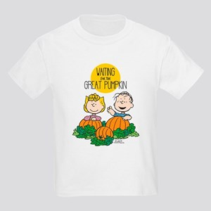 The Great Pumpkin Is Coming Kids Light T-Shirt