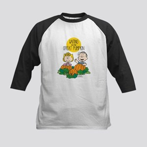 The Great Pumpkin Is Coming Kids Baseball Jersey