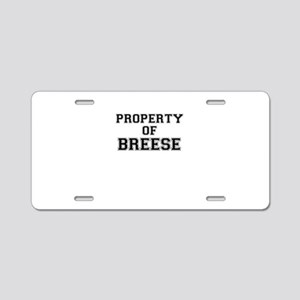Property of BREESE Aluminum License Plate