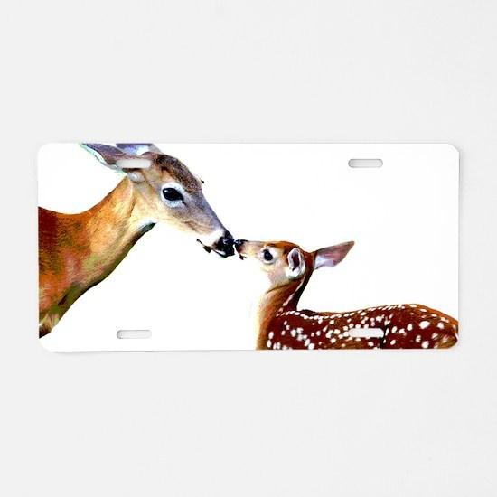 Funny Deer Aluminum License Plate
