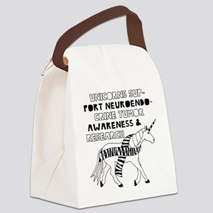 Unicorns Support Port Neuroendocr Canvas Lunch Bag
