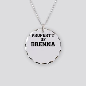 Property of BRENNA Necklace Circle Charm