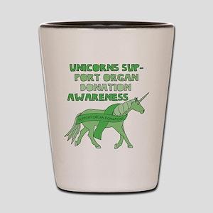 Unicorns Support Organ Donation Awarene Shot Glass