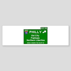 I95 INTERSTATE EXIT SIGN - PHILADEL Bumper Sticker