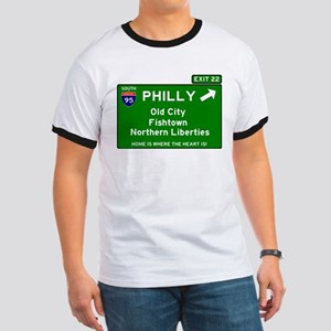 I95 INTERSTATE EXIT SIGN - PHILADELPHIA - T-Shirt