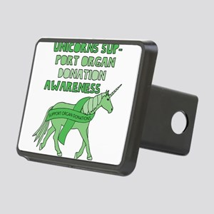 Unicorns Support Organ Don Rectangular Hitch Cover