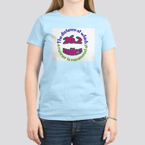 Women's Pink T-Shirt with marathon logo