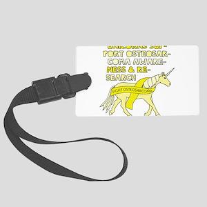 Unicorns Support Osteosarcoma Aw Large Luggage Tag