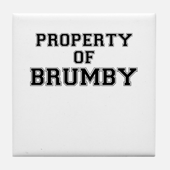 Property of BRUMBY Tile Coaster
