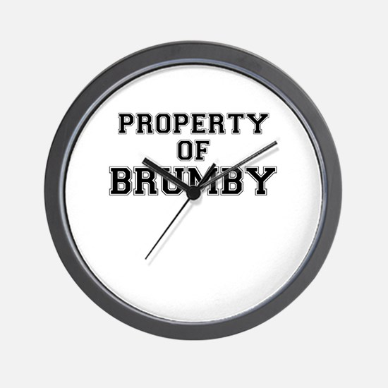 Property of BRUMBY Wall Clock
