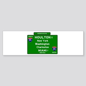 INTERSTATE I95 SIGN - MAINE - NEW Y Bumper Sticker