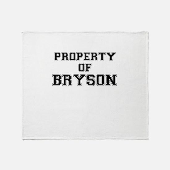 Property of BRYSON Throw Blanket
