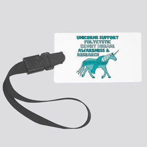 Unicorns Support Polycystic Kidn Large Luggage Tag