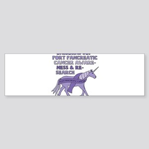 Unicorns Support Pancreatic Cancer Bumper Sticker