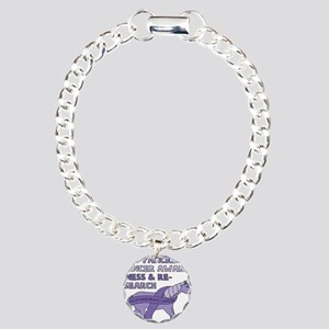 Unicorns Support Pancrea Charm Bracelet, One Charm