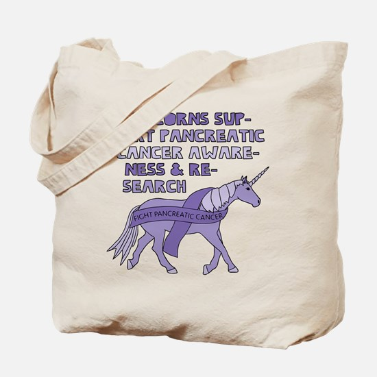 Unicorns Support Pancreatic Cancer Awaren Tote Bag