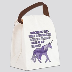 Unicorns Support Pancreatic Cance Canvas Lunch Bag