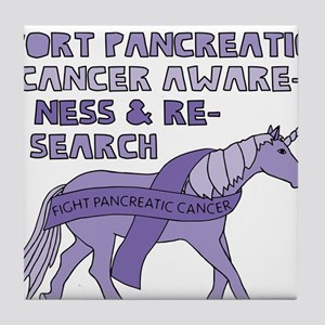 Unicorns Support Pancreatic Cancer Aw Tile Coaster