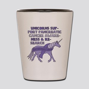 Unicorns Support Pancreatic Cancer Awar Shot Glass