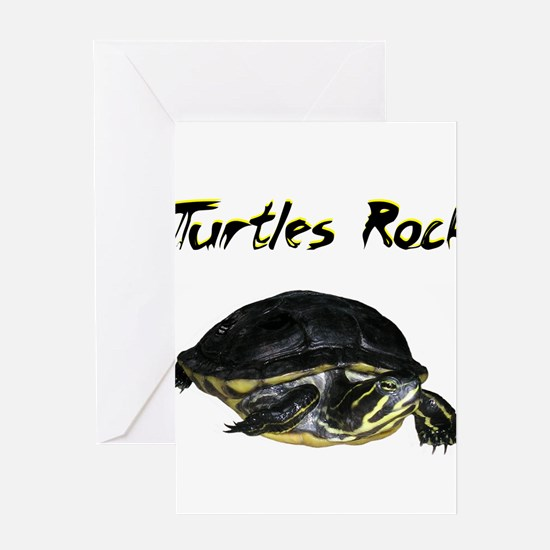 turtles_rock.jpg Greeting Cards