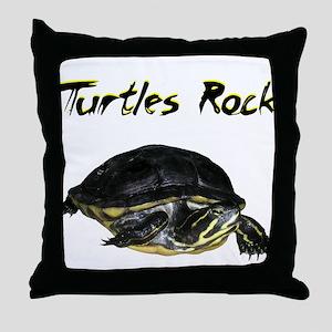 turtles_rock Throw Pillow