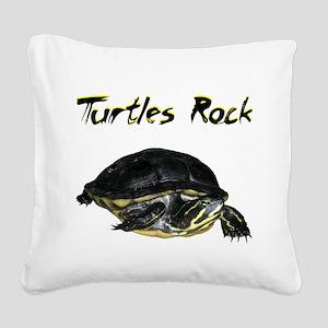 turtles_rock Square Canvas Pillow