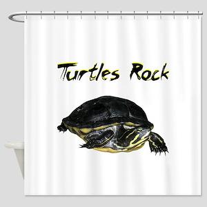 turtles_rock Shower Curtain