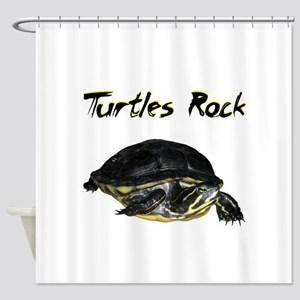 Turtles Rock Shower Curtain