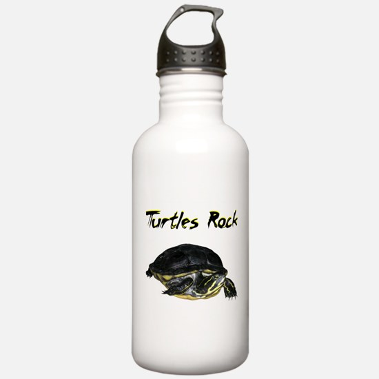 turtles_rock.jpg Water Bottle